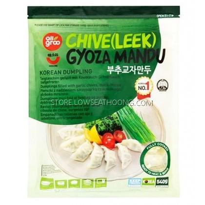 Korean Dumpling Leek Gyoza Mandu 韩式韭菜饺子 ALLGROO - 540g/12pkt/ctn
